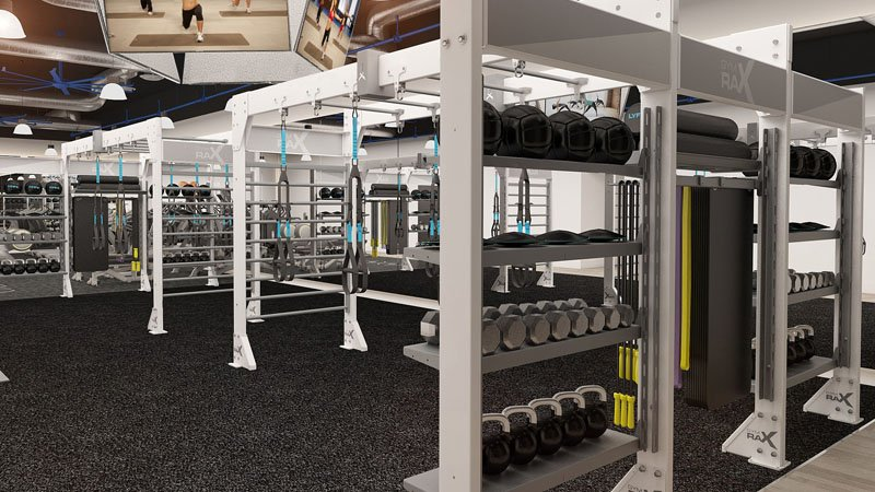 GymRax virtual powered functional fitness space