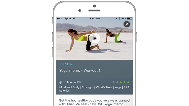 Jillian Michaels Workout Videos on Mobile App