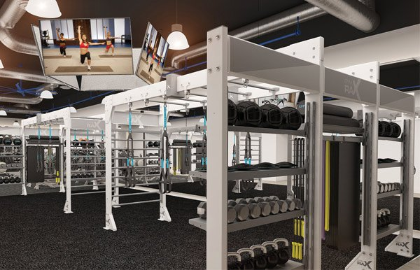 GymRax virtually powered functional fitness zone